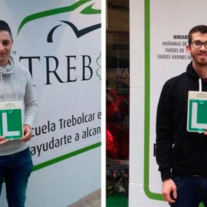 Dos nuevos aprobados en Trebolcar Autoescuela en Burjassot